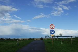 Cyklostezka směr Ostrožská Nová Ves