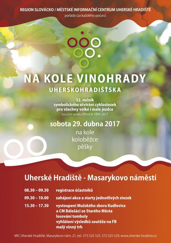 Plakat na kole vinohrady JARO 2017